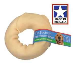 Pet Factory USA Rawhide Beef hide Donut Tasty and Long Lasting Chew Bulk 3-4 inch