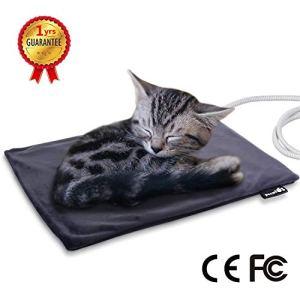pecute Tapis Chauffant Chat Coussin Chauffant Chien Chat Domestique Electrique Tapis Chauffant pour Animal (Petit 40 * 32cm)