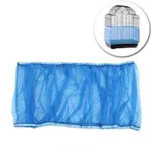 UEETEK Housse pour Cage Oiseaux Maille Couverture Protection Cage Oiseaux Perruches Canaris Attrape Graine Bleu Taille M size M