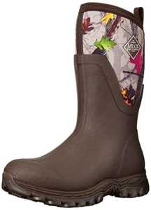Muck Boots Arctic Sport Mid Slip Rugged Neoprene Resistant Fleece Rubber Exterior Brown W8