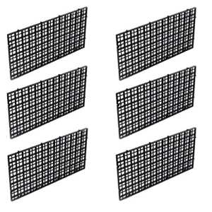 Wetrys Lot de 6grilles d'isolement, cloisons de séparation, plateaux, filtres pour mettre au fond de l'aquarium – Noir