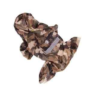 Kurphy Vêtements pour Animaux de Compagnie Chien Imperméable Chiot PVC Monocouche Bande Réfléchissante Décoration Manteau de Sécurité Rainy Day Outdoor Essentials