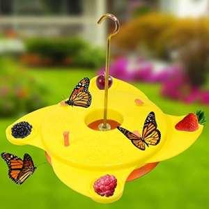 Mangeoire à papillon de jardin, jaune