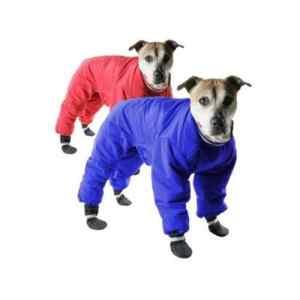 Muttluks Vêtement pattes réversible en nylon/60,96cm, rouge/bleu 61cm
