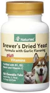 NaturVet – Levure de bière séchée ail vitamines pour chien/chat 100 comprimés