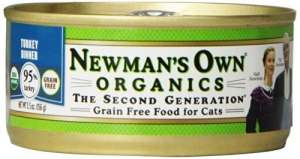 Newman's Own Organics Turkey Grain-Free Food for Cats, 5.5-Ounce (Pack of 24) by Newman's Own Organic Pet (English manual)