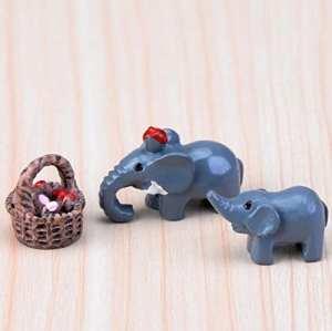 Rcdxing DIY Jardin Féérique miniature éléphant Ornement Pot de fleurs figurine Décoration bonsaï Décoration