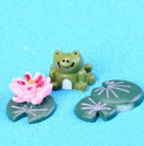Rcdxing Fairy Garden Ornement DIY Jardin Féérique Miniature Grenouille Ornement Pot de Fleurs Figurine Décoration de la Maison