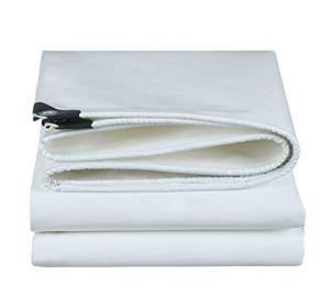 Yuke Bâche Transparente avec œillets imperméable pour Les véhicules Yard/Camping/SUV (Couleur: Blanc) (Taille : 3x6m)