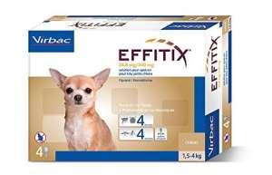 Effitix Spot On très petit chien 1.5 – 4 kg 4 pipettes
