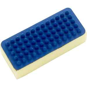 Lincoln Rubber Groomer With Sponge One Size Blue Cream