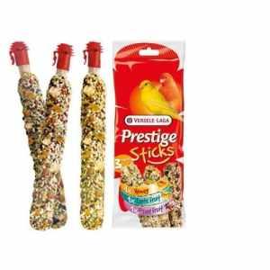 Prestige Sticks bâtons gourmets pour canaris–Multipack 3pièces: 1miel, 1fruits exotique, 1fruits des bois.