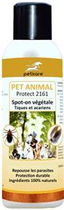 Peticare Pipette Anti-Tiques Bio Spot-on Protection Annuelle – Chiens & Chats – 100% Répulsif Biologique, et Contre Acariens & Puces, Végétal, sans Chimie Toxique – petAnimal Protect 2161 (200 ML)