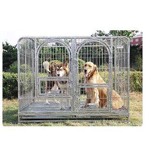 QNMM Grand Cage pour Chien de Compagnie Pliant Cage de Chien en métal Cage de Transport pour Chiot Lourd Robuste roulement Parc pour Animaux de Compagnie,RoundedCorner