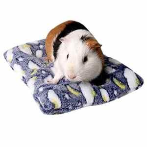 ZYUEER Lit pour Cochon d'Inde Hiver Cage, Hamster Mat Lavable Hérisson avec Tapis de lit (22x27cm, Navy)