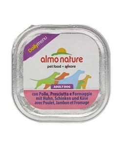 ALMO NATURE CANE TRADITION DAILY MENU UMIDO VASCHETTA CON POLLO, PROSCIUTTO E FORMAGGIO GR. 100