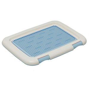 Toilette pour animaux Toilette pour Chien Pot D'urinoir pour Chien en Plastique pour Petit Chien Amovible Fournitures pour Animaux De Compagnie Bleu 36.5cm Grille Cadeau