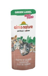 Almo Nature – Complément Almo Nature Green Label Mini Food Au Filet de Saumon Green Label Filet de Saumon