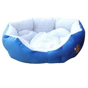 Ardisle Warm Soft Fleece Puppy Animaux domestiques Dog Chat Bed House Panier Nest Mat Imperméable (Bleu)