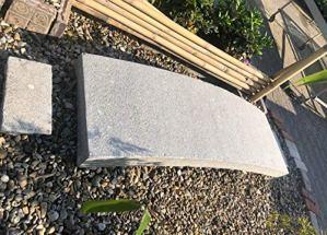 Asien Lifestyle Pont de Jardin en Porcelaine (190 cm) en Granit pour décoration de Jardin Asiatique.