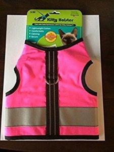 Crazy K Farms Kitty Holster Réfléchissant Harnais de Sécurité Extra Large Rose Fluo
