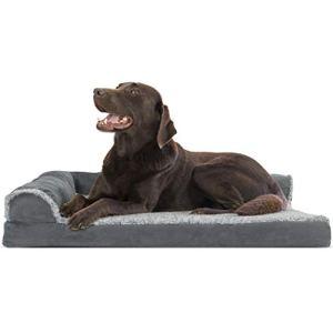 Furhaven Deluxe Chaise orthopédique Canapé pour chien–Lit pour chien pour chiens et chats