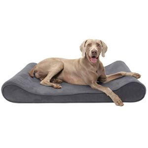 Furhaven pour Animal Domestique Petite Microvelvet Luxe Chaise Longue orthopédique pour Animal Domestique