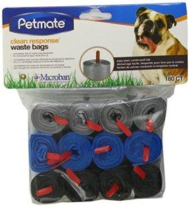 Petmate 71099180Réponse de nettoyer Animaux déchets Sac Recharges, couleurs assorties (Noir/Bleu/Argent)