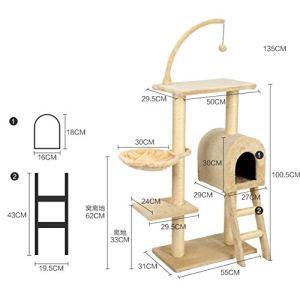 SHUX Chat grimpant pour Chat grimpant pour Chat avec nid Grand Chat Cadre pour escalier Multicouche litiu00e8re pour Chat litiu00e8re pour Chat u00e9tagu00e8re pour Chat Plateforme de Saut-Yellow
