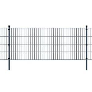vidaXL Panneaux et poteaux de clôture 2D pour jardin 2008×2230 mm 34 m