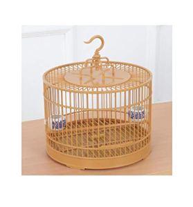 Yanxinenjoy Cage à Oiseaux Bassin de Bain Oeil brodé Cage de Bain Set Cage à Oiseaux en Plastique assemblé Rond