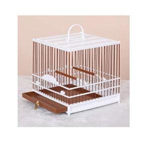 Yanxinenjoy Cage, œil brodé, Cage à Oiseaux en Plastique, Bain en Plastique, carré, Durable et Robuste@Blanc