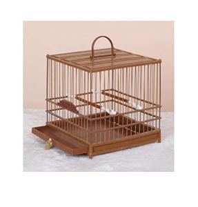 Yanxinenjoy Cage, œil brodé, Cage à Oiseaux en Plastique, Bain en Plastique, carré, Durable et Robuste@Brown