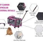 Generic Chaussettes de Luxe avec roulettes et roulettes pour Animaux domestiques avec Chariot Pliable