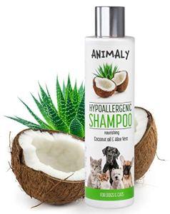 MYANIMALY Shampooing hypoallergénique à l'huile de noix de coco et aloe-vera 250 ml