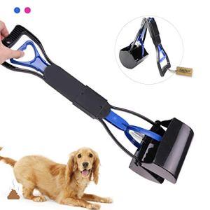 Andiker Pelle à déjections Canines Pliable à Long Manche Durable pour intérieur et extérieur 60 cm