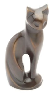 Urns Uk – Urne funéraire pour animal de compagnie – Chat – Bronze – 24 cm
