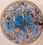 Northern constellations and zodiac signs, by Francesco Botticini in Matteo Palmieri's Città di Vita. 15th century.
