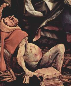 Advanced ergotism. By Matthias Grünewald, about 1515.