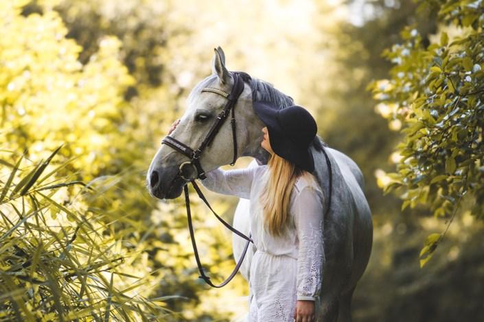 photo couple cheval cavalier