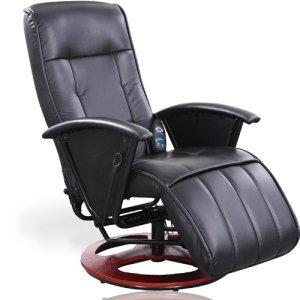 Miadomodo – Fauteuil de Massage Relaxation Vibrant Chauffant en Simili Cuir avec Télécommande