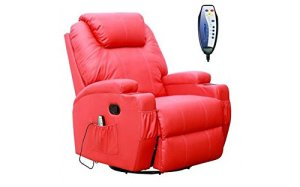 FAUTEUIL massant et chauffant, électrique en cuir rouge, modèle REDCOOL1