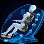 CSPFAIZA Relax Fauteuil de Massage, Manipulateur Flexible Intelligent à 8 Roues – Fonction Bluetooth – Massage par La Chaleur, Gravité Zéro