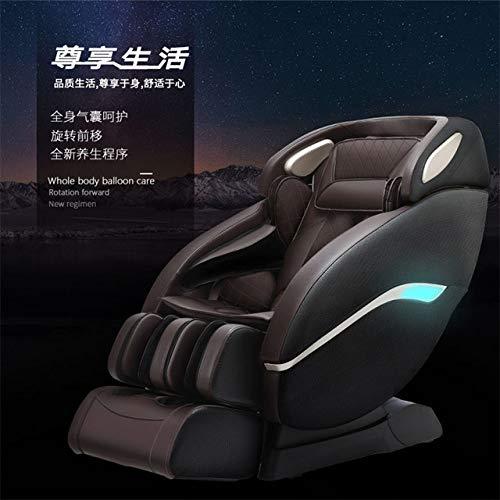 Chaise de massage LKU Fauteuil de massage de luxe complet du corps électrique maison intelligente multifonction automatique SL orbite espace cabine canapé pour personnes âgées, noir