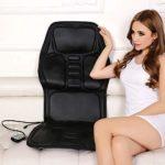 Coussin de siège de massage avec masseur de dos de voiture de chaleur pour chaise, coussin de chaise de massage Massage Shiatsu complet du corps, soulage la douleur musculaire pour le soulagement