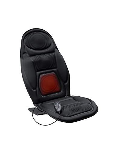 Lanaform Back Massager – Siège massant & chauffant pour le dos et la nuque | Masage par vibration – 4 modes de massage