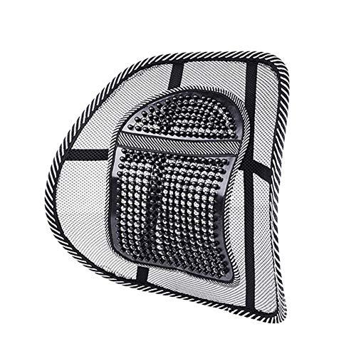 Support lombaire Accessoires for la voiture taille Retour Soutien Fauteuil de massage soutien lombaire taille Coussin Mesh Ventiler Pad for voiture (Color Name : Small leather nail)