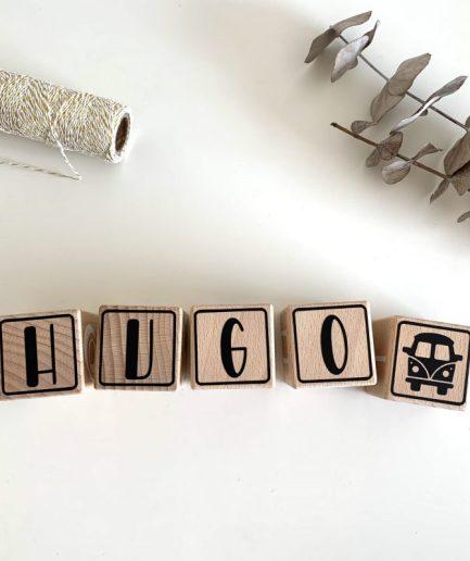 cubes en bois prénom bébé