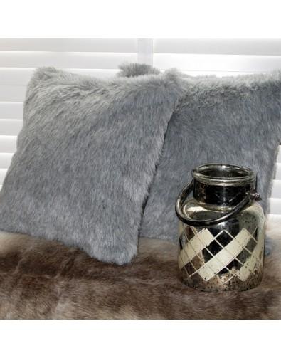 ash light grey faux fur cushion covers grey fur pillows and cushions
