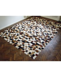 Small Squares Patchwork Cowhide Rug 515 | Large Patchwork ...